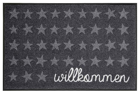WASH+DRY BY KLEEN-TEX Durų kilimėlis »Willkommen Sterne« was...