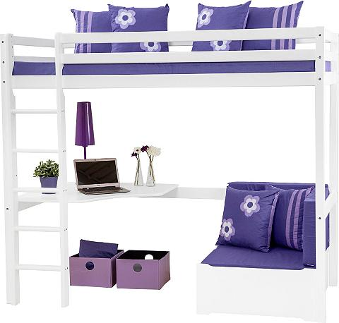 Dviaukštė lova »Purple Flower«