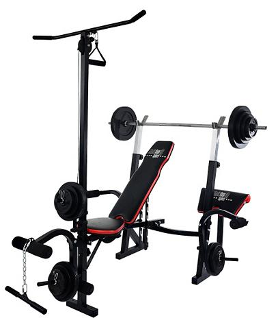 CHRISTOPEIT SPORT ® Treniruočių suoliukas ir 385 kg Gewi...