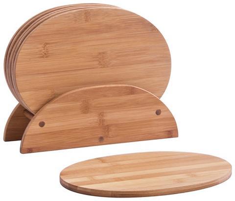 ZELLER Lentelių stovas »Bamboo« 7-tlg. oval
