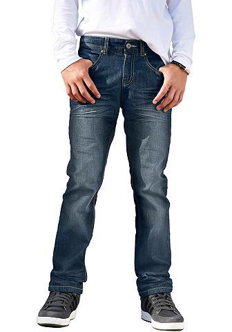 Tiesaus kirpimo džinsai