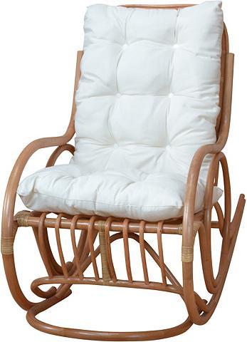 HOME AFFAIRE Rattan supamas fotelis su užvalkalas