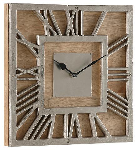 HOME AFFAIRE Sieninis laikrodis iš mediena ir Alium...