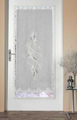Stickereien Plauen Türvorhang »Türstores Sterne« Durchzug...