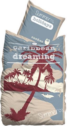 SUENOS Patalynė »Caribbean« su palmių motyvas...