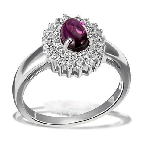 Žiedas 925/- Sterlingsilber 1 Granat l...