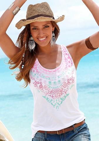 Paplūdimio Marškinėliai be rankovių su...