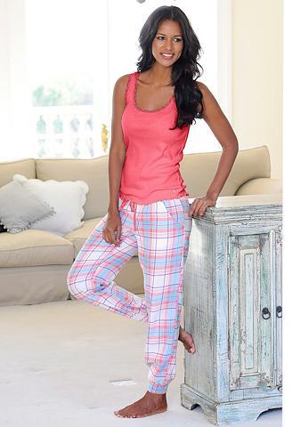 Languoti pižaminės kelnės