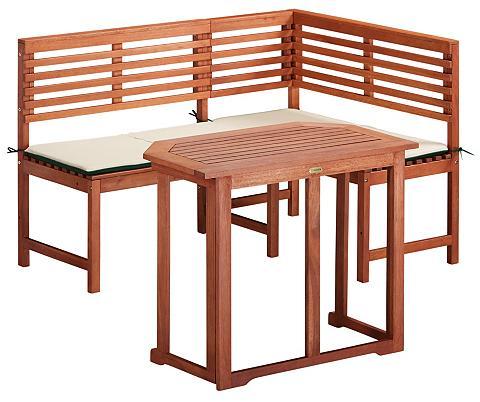 Sodo baldų komplektas kampinis suolas ...