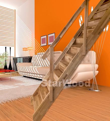 STARWOOD Kompaktiški laiptai »Rhodos« geschl. k...
