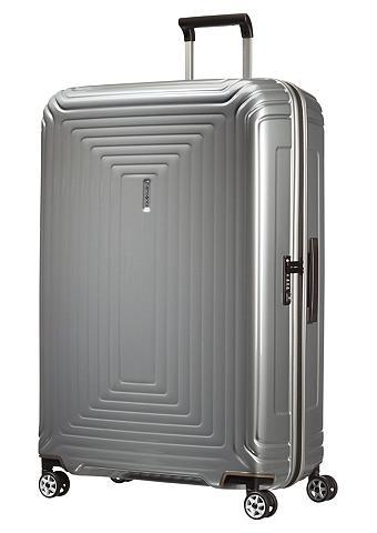 Plastikinis lagaminas su 4 ratukais ir...