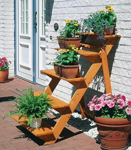 PROMADINO Medinis stovas »Blumentreppe groß« B/T...