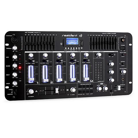 resident dj 4 Kanal DJ Mischpult Mixer Bluetooth U...