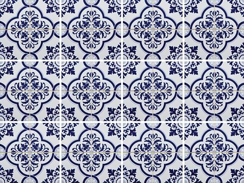 HOME AFFAIRE Flisinis tapetas »blaue Ornamente« 12x...