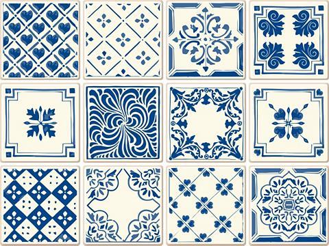 Flisinis tapetas »Retro Ornamente« 12x...