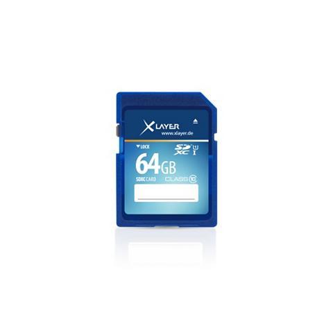 XLAYER SD »64GB SDXC C10 UHS-I 10MBs«