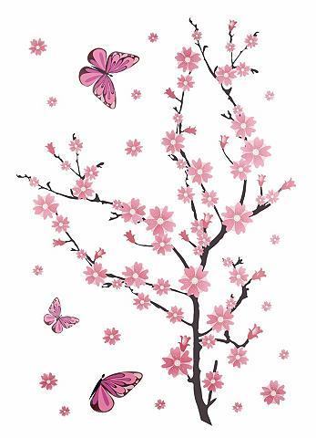 Sienų lipdukai »Kirschblüten su Schmet...