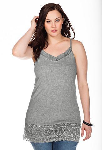 BASIC marškinėliai ant petnešų su nėri...
