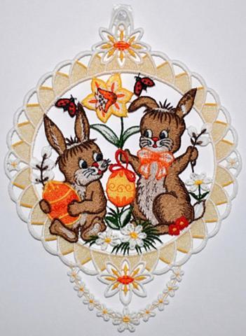 Lango dekoracija »Fensterbild Hasenpär...