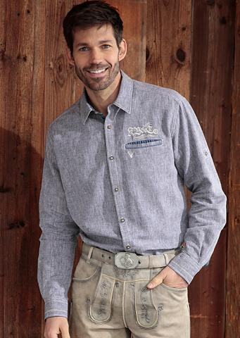 Tautinio stiliaus marškiniai in lino i...