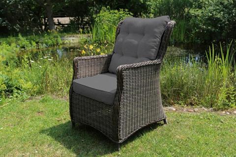 DESTINY Poilsio kėdė »Casa« Polyrattan grau ir...