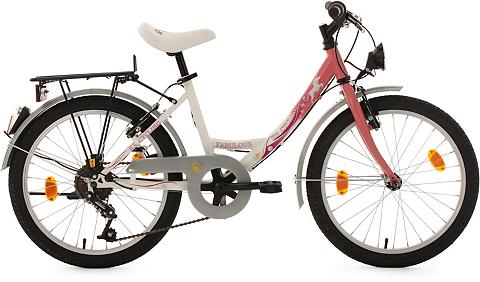 KS CYCLING Jaunimo dviratis 20 Zoll weiß-rosa 6 G...