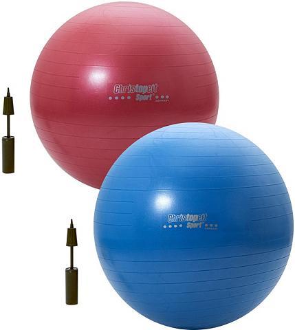 CHRISTOPEIT SPORT ® Gimnastikos kamuolys 65cm raudona / ...