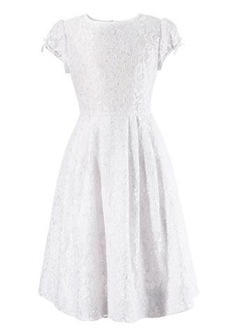 Kinder suknelė iš nėrinių su Satininė ...