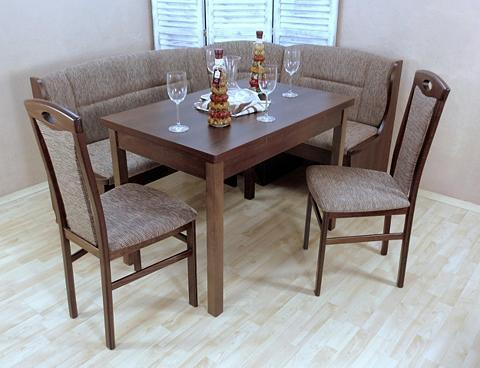 Kampinis virtuvės suolas su kėdėmis 4 ...