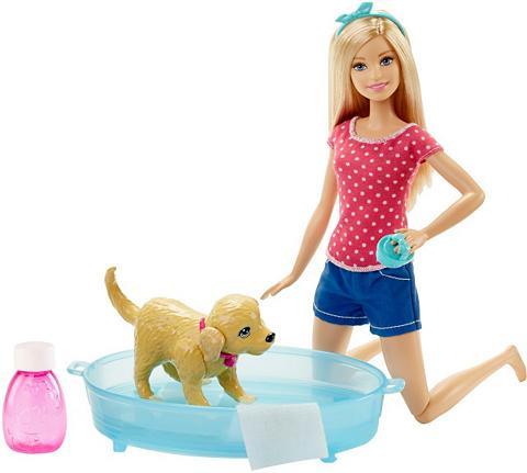 Lėlė su Hündchen »Barbie Hundebad«
