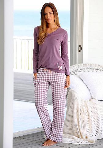 Langärmliger pižama su languotas kelnė...