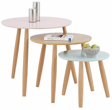 HOME AFFAIRE Pristatomas stalas »Pastel« (Rinkinys ...