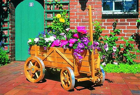 PROMADINO Vežimėlis gėlėms