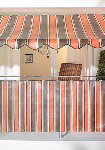 Terasinė markizė orange-braun dryžuota...