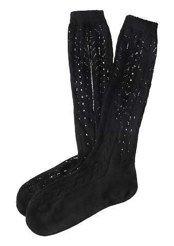 Ilgos kojinės Moterims su ažurinis raš...