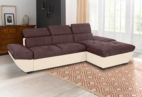 Kampinė sofa patogi su miegojimo funkc...
