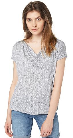 Marškinėliai »draped raštas tunic«