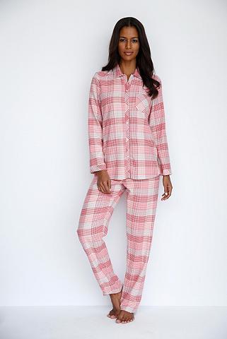 Languotas Flanelinė pižama su apykaklė...