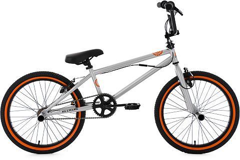 BMX dviratis 20 Zoll silberfarben-oran...