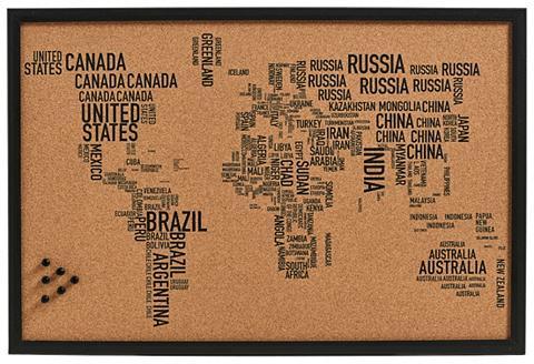 ZELLER PRESENT Priminimų lenta »World Letters« Kork 6...