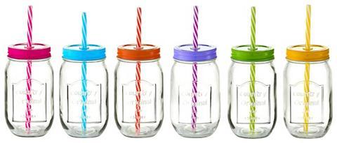 Stikliniai buteliukai su šiaudeliais »...