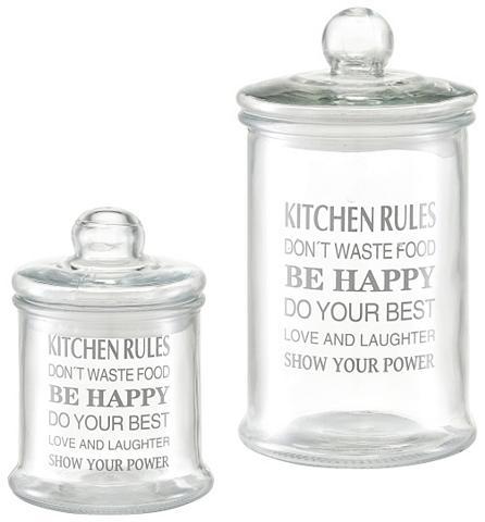 ZELLER Stikliniai indai »Kitchen rules 2-tlg....