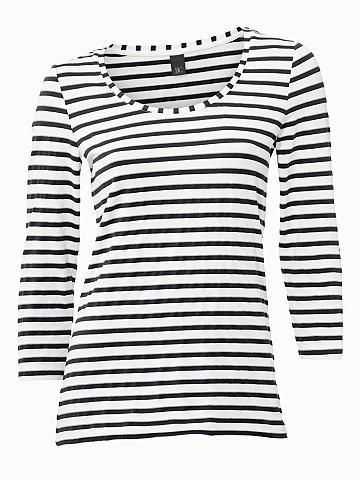 heine CASUAL Dryžuoti marškinėliai Effektgarn