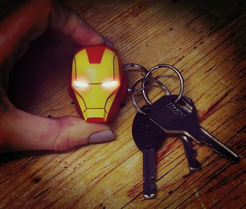 Fanų atributika »Iron Man Raktų pakabu...
