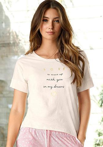LASCANA Marškinėliai trumpomis rankovėmis su D...
