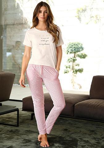 Siauras pižaminės kelnės su P