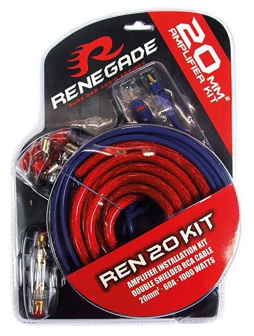 Renegade 20 mm2 Verstärker-Installations-Set 60...