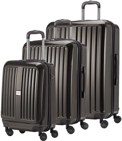 HAUPTSTADTKOFFER Plastikinių lagaminų komplektas su 4 r...