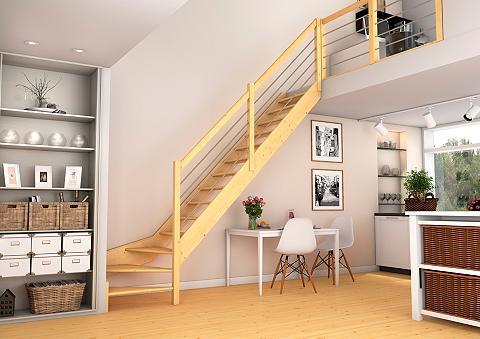Kompaktiški laiptai »Paris« 1/4 gewend...