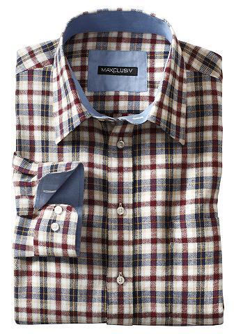 MAXCLUSIV Marškiniai ilgomis rankovėmis iš šveln...